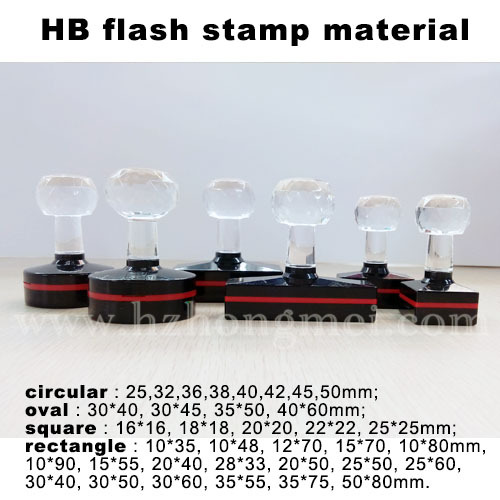 Alibaba supplier HB Ideal flash inking stamp good price supply/Professional crystal handle Ideal flash ink pad stamp