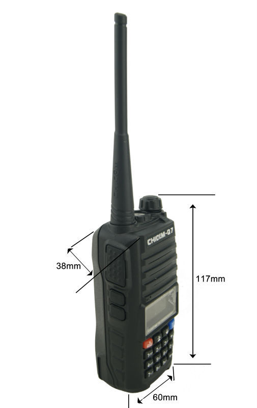 Dual band VHF/UHF handheld zweiwegradio 9 Watt high power tragbare radio