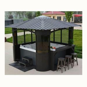 Modern Polystyrene Board and aluminum Alloy Frame Bathtub SPA Gazebo Outdoor