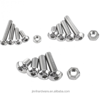 Screws and Nuts Set M3 M4 M5 Hex Socket Screws Stainless Steel SS304 Hex Socket Button Head Bolts