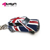 Zinc alloy Red blue Britain United Kingdom private car keychain ring promotion
