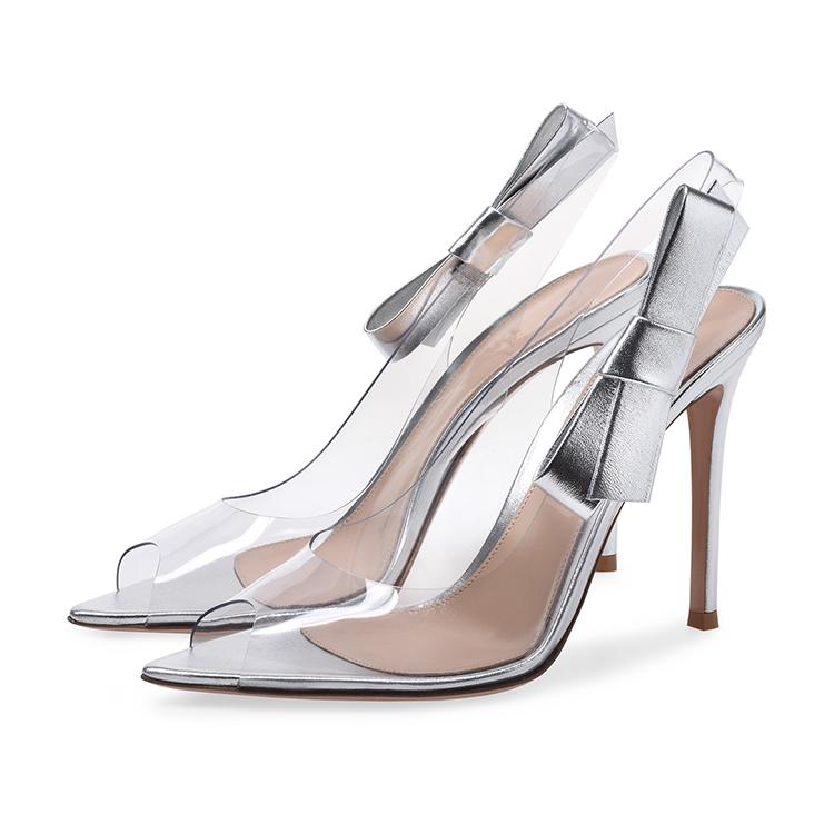 bae0ceffe99 silver women high heel sandals pvc clear transparent high heel sandals low  price ladies sandals