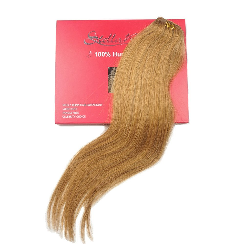Buy Stella Reina 1 Piece Weft Clip In Hair Extension Copper Blonde