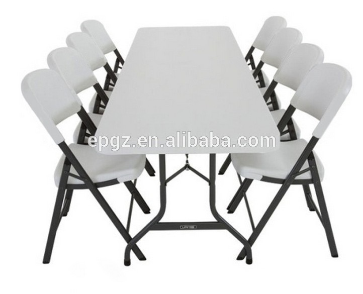 6 Seater Cheap Sale Modern School PE Plastic Dining Table And Chair For Kids