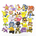 NEW 80Pcs Anime Pokemon Waterproof Laptop Car Stickers For Trunk Skateboard Guitar Fridge Decal Toy Stickers