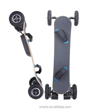 Factory price 4 PU wheels electric offroad bamboo skateboard with remote control(YHZ-SYL-06-04)