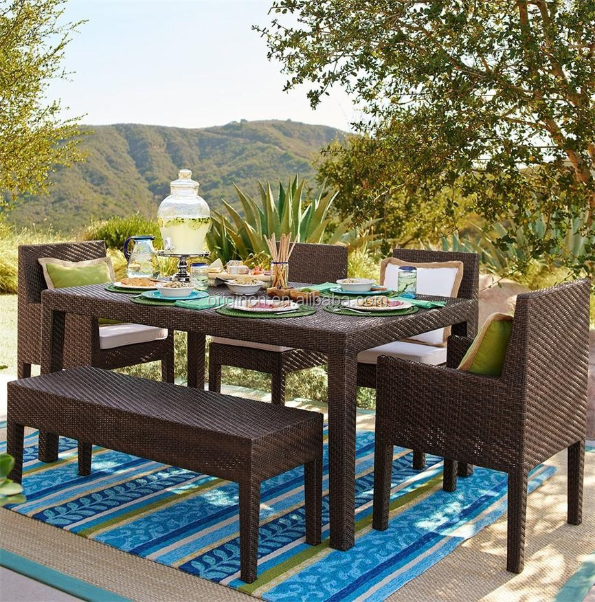 Garden Bench Designed Out Door Dining Table And Chair ...