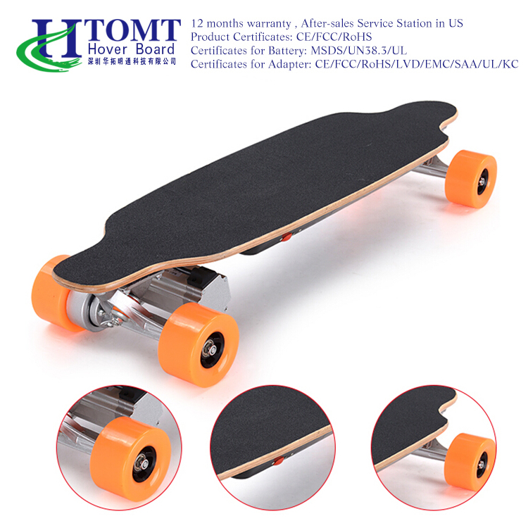 Longboard Electric Skateboard 2 * 250W Dual Brushless Nabenmotoren