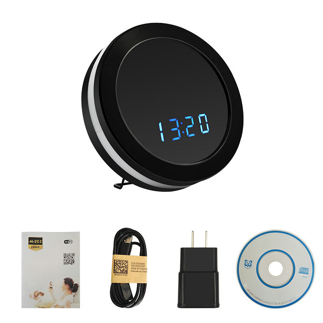 H.264 -1080P Wireless Network Clock Camera camera