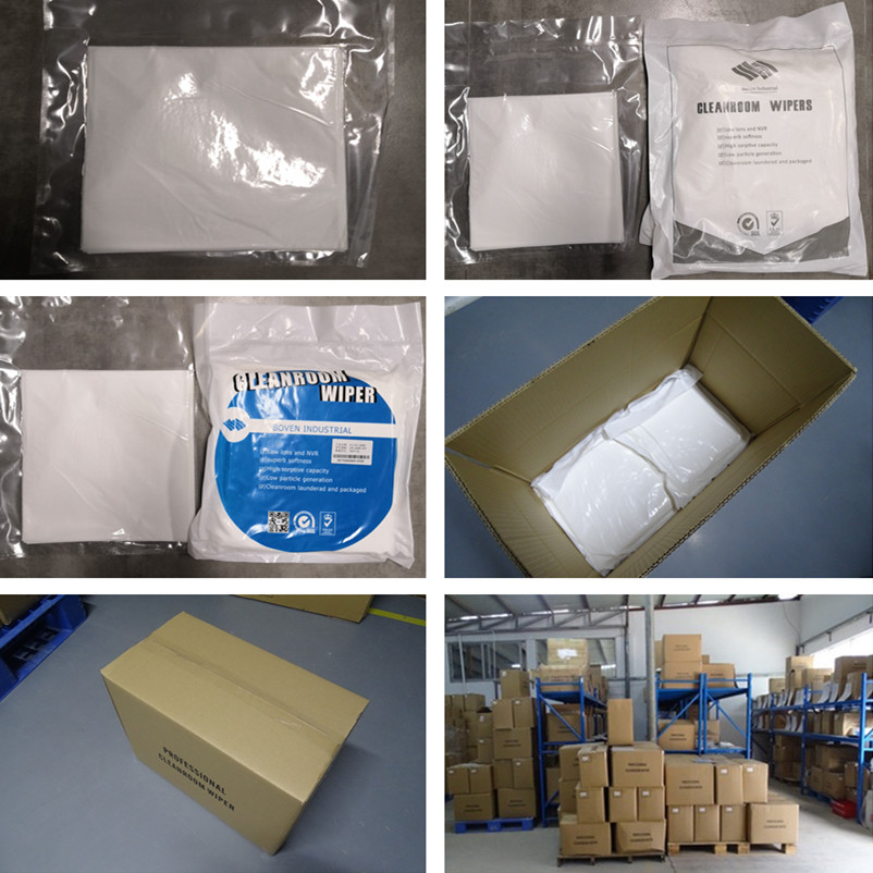 Boven Industrial Dust Free 180gsm White Soft Microfiber Lens Cleaning Wipes LCD Screen Cleanroom Cloth 9*9