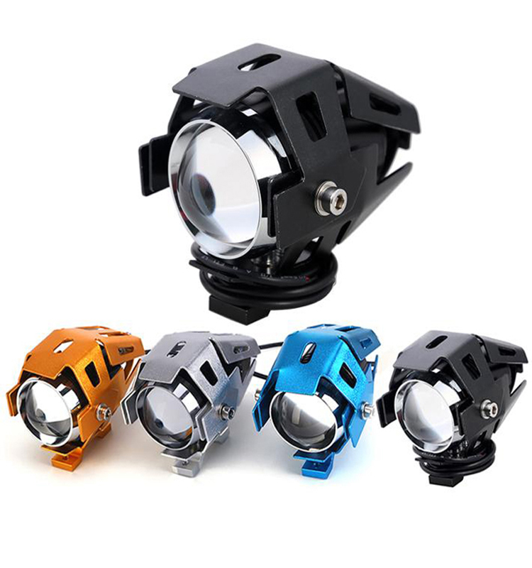 Motorcycle spare parts rtd motorcycle lights universal 30w fog lamp led U5 motorcycle led driving fog head spotlight