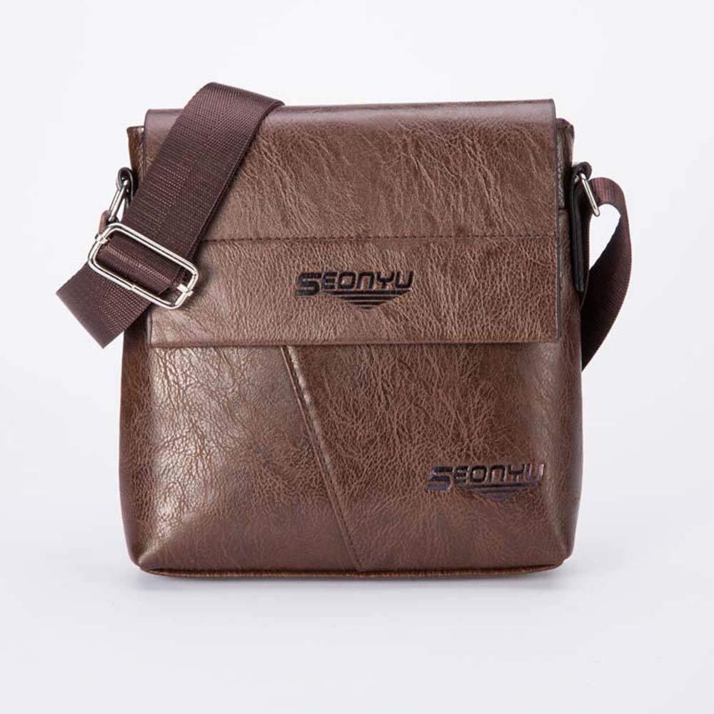 Men Fashion Business Dual-use Handbag,Outsta Handbag and Shoulder Bag Tote Flap Bag Phone Pack Purse Classic Casual (B)