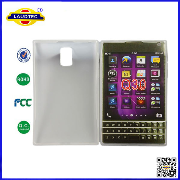 for blackberry q30 tpu case,glossy solid tpu gel case ,cover case for blackberry q30 laudtec