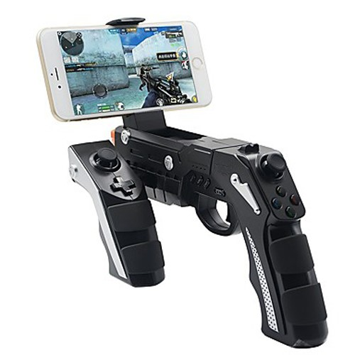 Shoot Game Wireless Bluetooth Gun Controller Motor Vibration Controller for 4 to 6 inch Smartphone