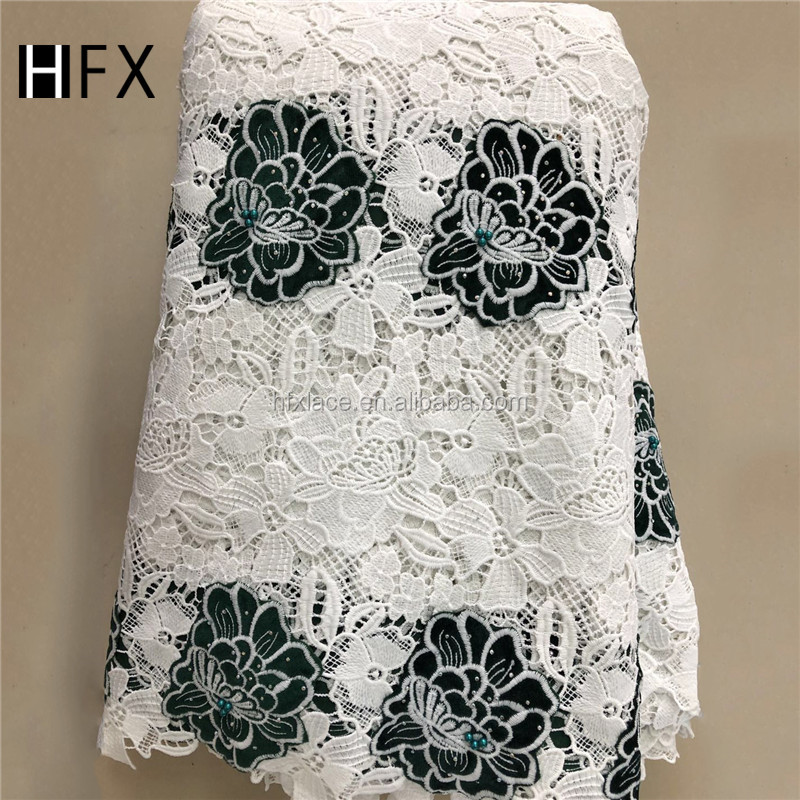Beautifical 2019 Hot Sale Nigerian Guipure Lace Fabric Embroidery Lace African Cord Lace Fabric