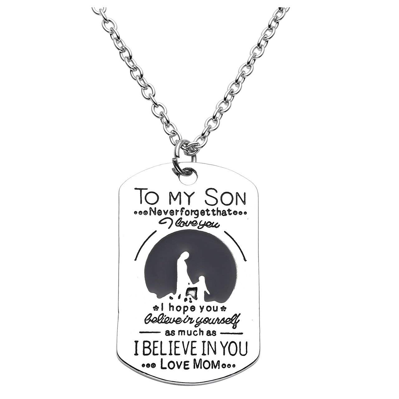 8261bd07d Get Quotations · Top Plaza Fashion Silver Tone to My Son/I Love You/I  Believe in