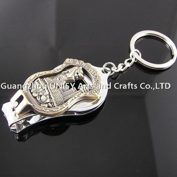 cheap toe nail clipper metal keychain key ring  metal nail scissors key  holder wholesale 03c07a558