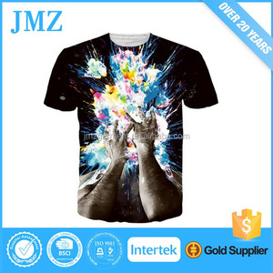 Summer style tee shirts artistic printing men t shirt