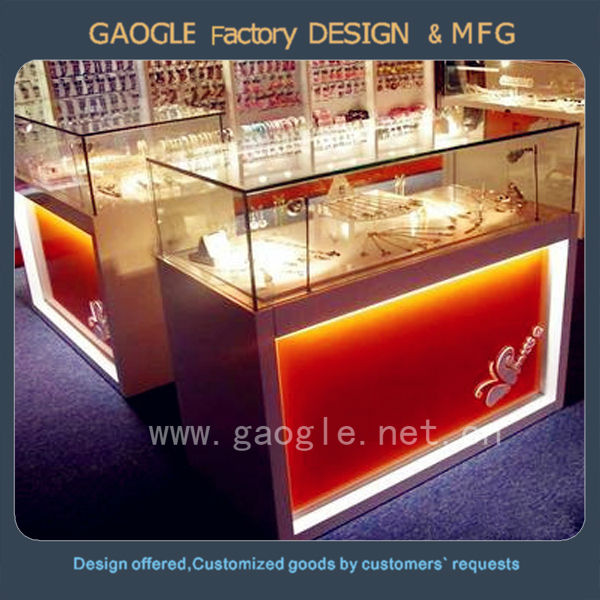 led vitrine tag re en verre lumi re pour bijoux boutique d coration support d 39 affichage id de. Black Bedroom Furniture Sets. Home Design Ideas