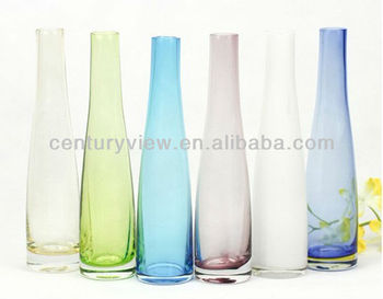 Small Tube Table Decoration Colored Glass Vases Wholesale ...
