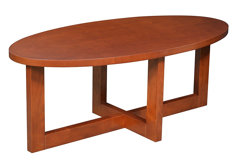 Get Quotations · Regency Chloe Oval Veneer Coffee Table, Cherry