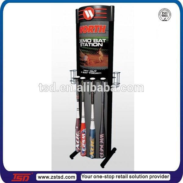 Tsd M367 Metalen Vloer Display Rek Voor Softbal Knuppel