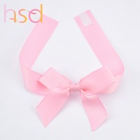 Wholesale High quality pre made self adhesive ribbon bow for packing box