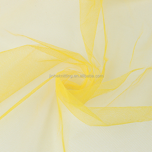 dazzling yellow nylon mesh fabric for scarves shawls