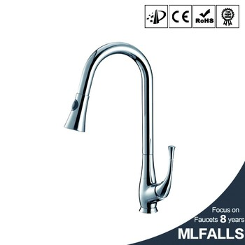 Chrome Brass Kitchen Faucet Sink Mixer Swivel Spray Spout Pull Out