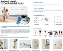 NeuCognic NeuGait FES Nerve and Muscle Stimulating Foot Drop Rehab System