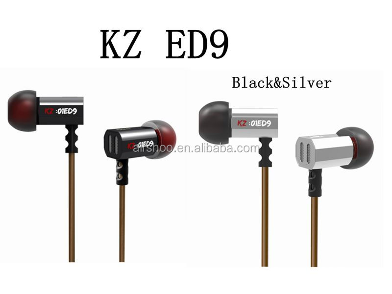 The newest Bluetooth Headset Original KZ ED9 3.5mm in ear Earphones Heavy Bass HIFI DJ Stereo Earplug noise isolating Headset