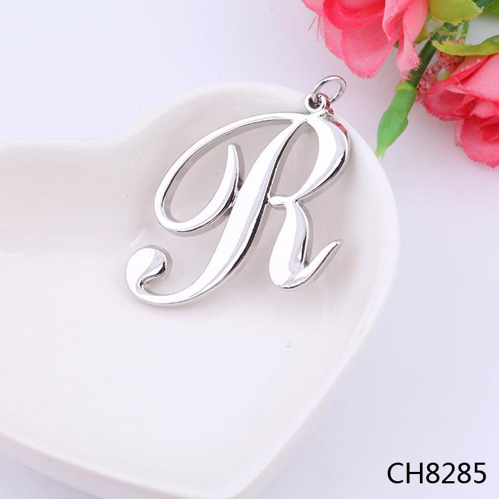2016 hot sale initial letter r pendant silver plating pendant alphabets designs