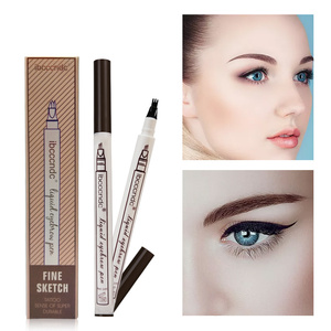 Waterproof Fork Tip Eyebrow Tattoo Pen Fine Sketch Liquid Eyebrow Pencil Microblading Eyebrow Tattoo Pen