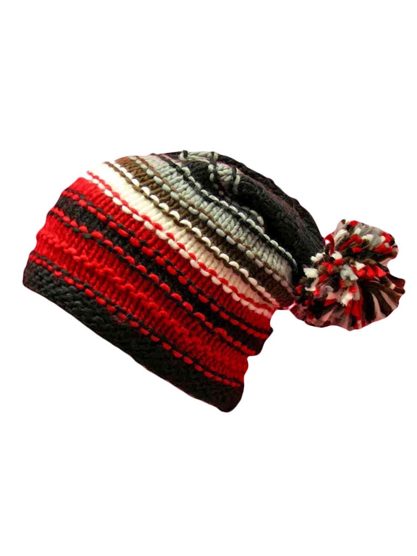 6a7735c7566 Get Quotations · Luxury Divas Multicolor Striped Knit Slouchy Beanie Hat