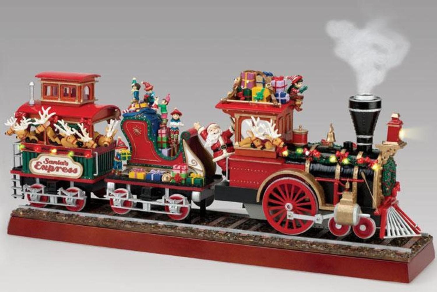 get quotations mr christmas animated musical lighted santas express decoration 79001 - Moving Christmas Decorations