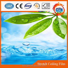 Flexible water pattern PVC ceiling 1.5meters to 5 meters wide with water&fire-proof quality produced shop decor