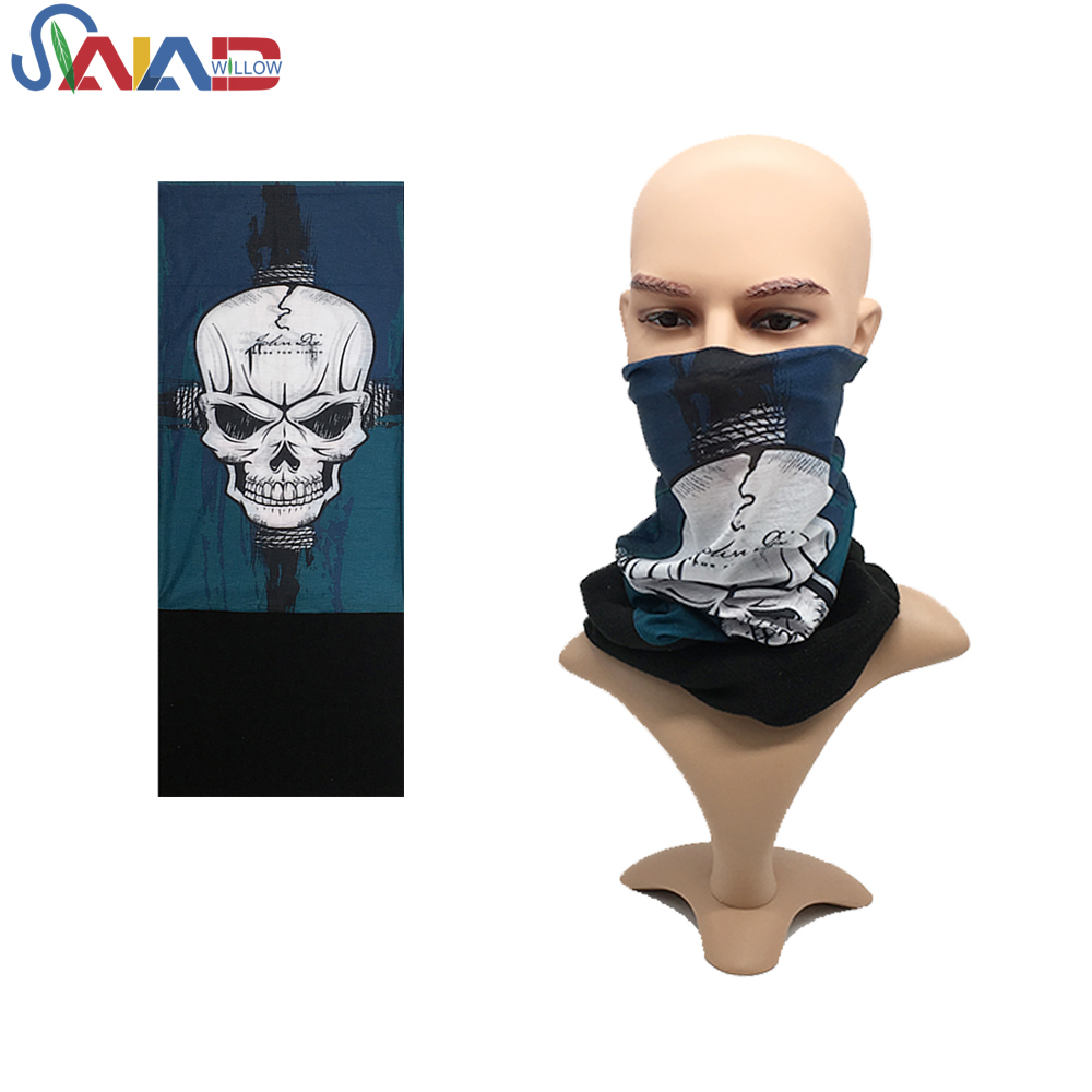 Multi-purpose winter polar fleece custom skull mask logo bandanas