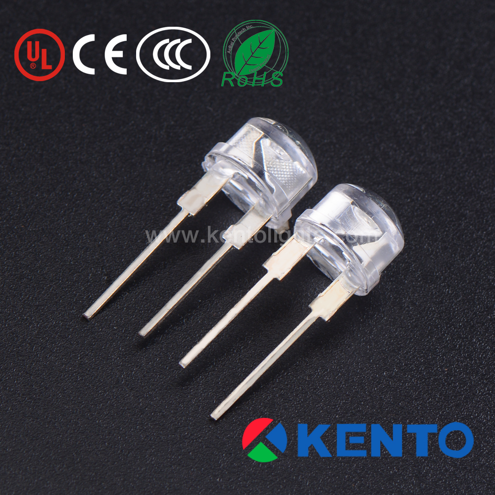 lamp light led diode high power 350nm leds 5mm oval red led diode