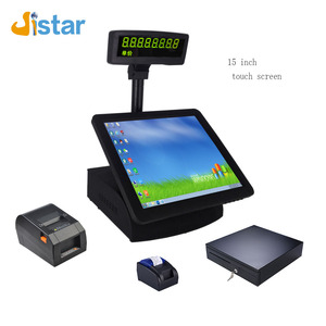 15 Inch Screen Touch Monitor Retail and restaurant Pos System with Cash Register All In One ubuntu pos system