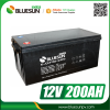 Bluesun deep cycle agm lead acid battery 12v 200ah with ISO CE ROHS