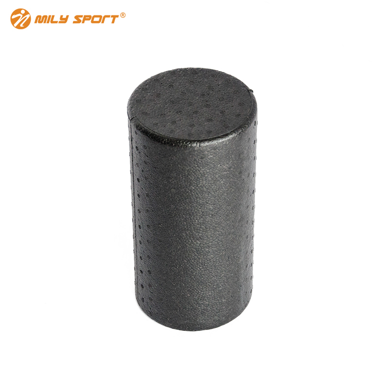 Mily sport 90cm fitness crossfit home gym massage colorful Black EPP Foam yoga Roller with PU cover