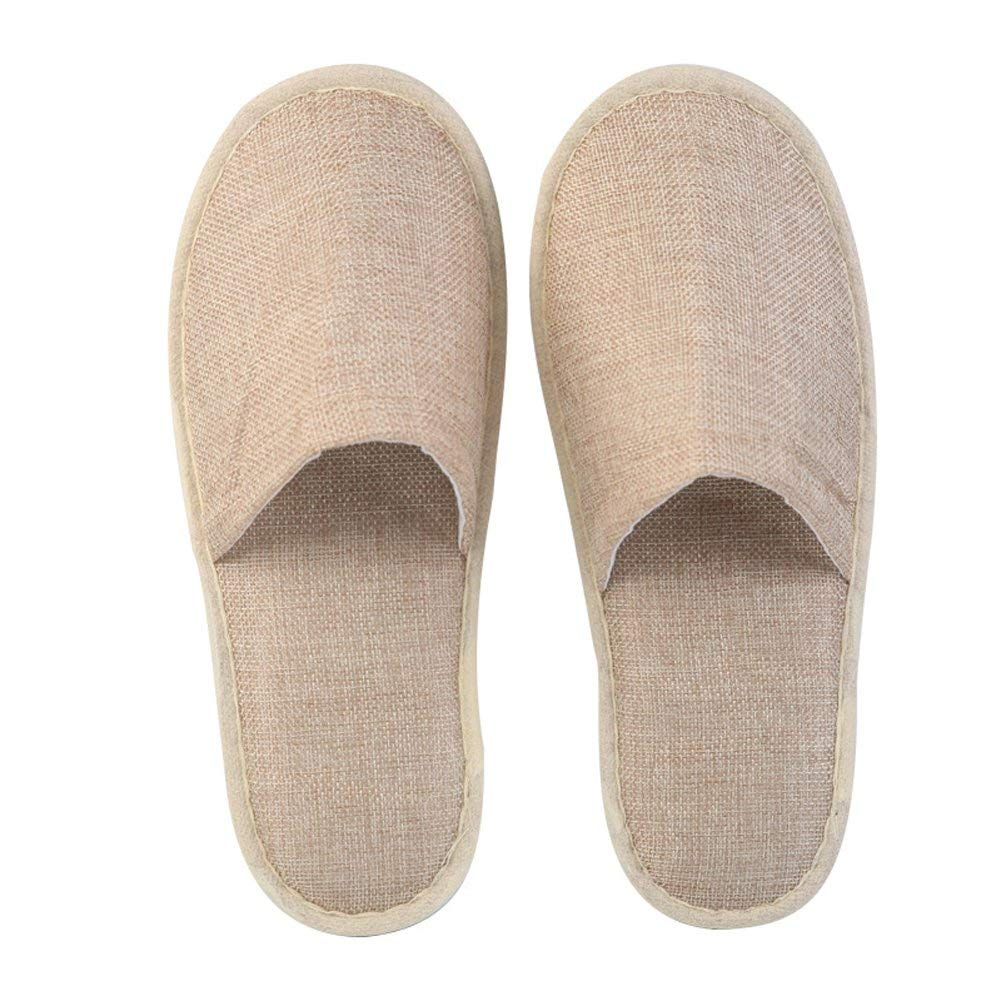 Stockwell Disposable Slippers Linen Close Toe Spa Slipper,10Pair per Case
