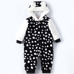 Baby Clothing Girls Animals Print Flutter Sleeves Romper