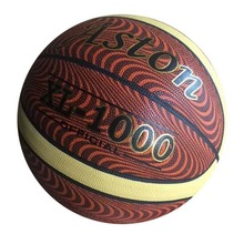 Orange,29.5-Inch offical size 7 PVC/PU/TPU laminated basketball for match