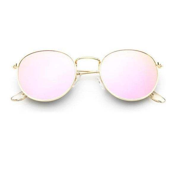 b8fedd4646 2017 ronda Retro gafas de sol mujer hombre mujer marca marcos de Metal espejo  lentes gafas
