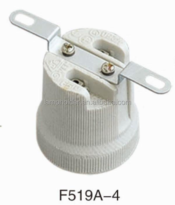 E27 Porcelain Lampholder With Bracket Electric Bulb Lamp Holder Type