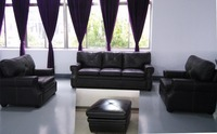 Fashionable design wholesale popular black heated leather sectional sofa design