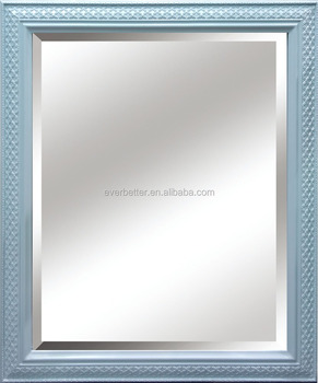 Wood material and painting frame type antique mirror frame for Types of mirror frames