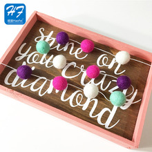 New Trendy Custom Sizes Handmade Wall Decoration Christmas Ball Ornament Felt Nepal Ball Garland