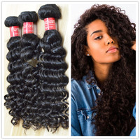 Wholesale 7A hair extension hair weave factory price doule weft curly wave eurasian human hair extension